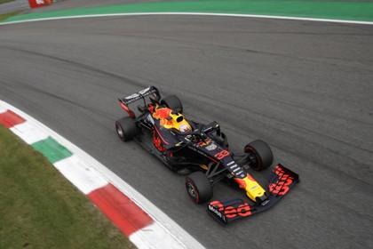 Racewagen Max Verstappen zaterdag bij Jumbo in Hilversum
