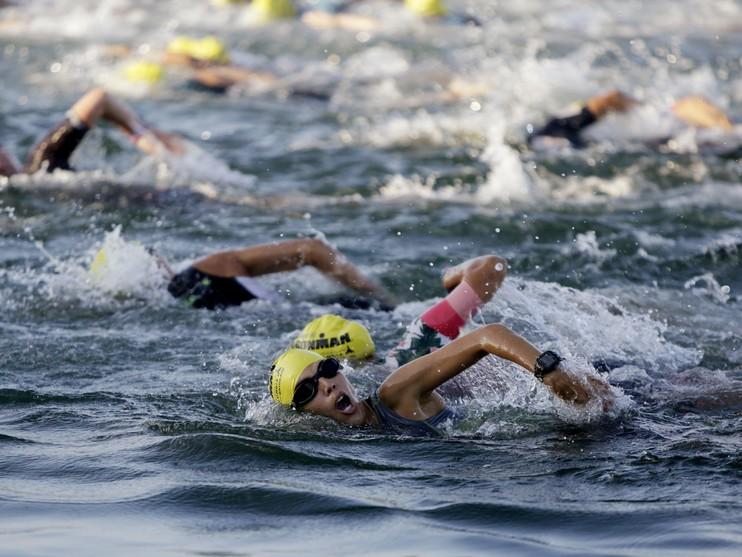 Ironman 70.3 halve triathlon in West-Friesland