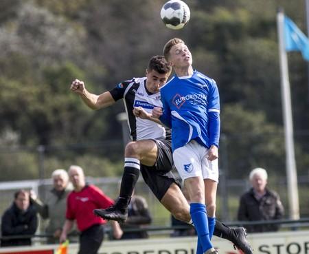 IJmuiden terechte winnaar van derby, Stormvogels met 1-0 verslagen