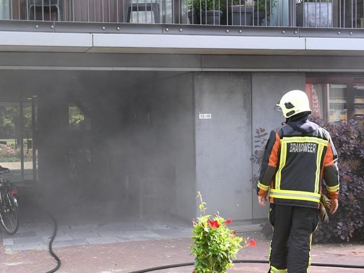 Zes woningen ontruimd om brand in meterkast Oegstgeest