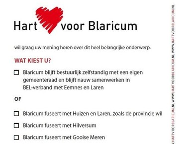 Hart voor Blaricum start peiling dorpstoekomst