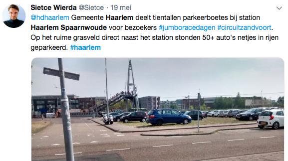 Boosheid over parkeerboetes bezoekers Jumbo Racedagen bij station Haarlem Spaarnwoude