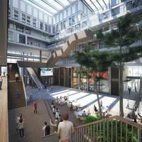 Impressie van de nieuwe campus van de Vrije Universiteit in Amsterdam