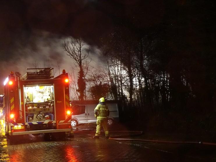 Uitslaande brand op camping in Enkhuizen