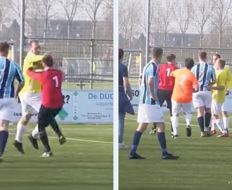 Haarlemse grensrechter krijgt boete voor knock-out op voetbalveld, na incident zat hij anderhalve week ondergedoken vanwege doodsbedreigingen