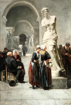 Volendamse vrouwen in het Louvre hangen nu in Enkhuizen