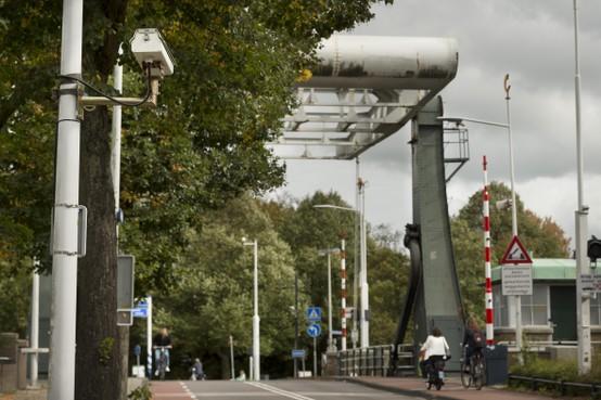 Camera's kijken naar kentekens in Leiderdorp