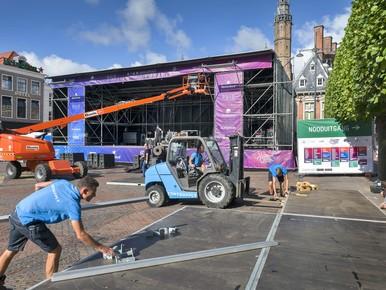 Grote Markt bijna klaar voor Haarlem Jazz & More