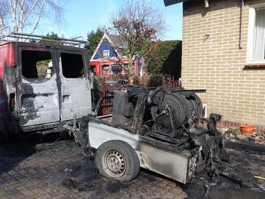 Flinke schade bij brand in Dorpstraat in Broek op Langedijk