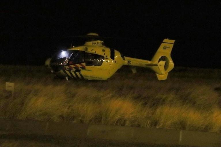 Man zwaargewond na val in Katwijk, traumahelikopter rukt uit