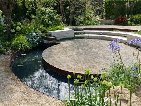 Leven in de tuin: een ontwerp voor de vijver