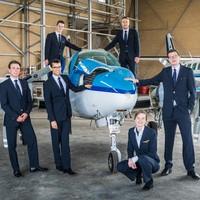 Leerlingen van de KLM Flight Academy.
