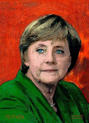 Kunstzinnige parade van wereldleiders