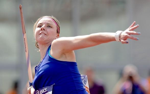 Speerwerpster Lisanne Schol was met haar persoonlijk record op het NK teams niet tevreden