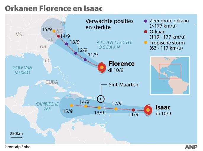 Vrees jij voor orkaan Florence?
