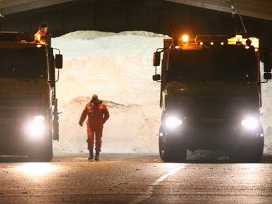 Strooiwagens paraat in Noord-Holland