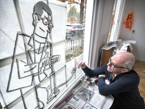 Joost Swarte viert feestje in Haarlem met kunstmagazine See All This