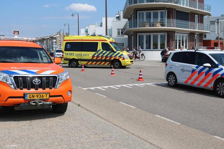 Aanrijding met wielrenner en auto op de Boulevard in Katwijk