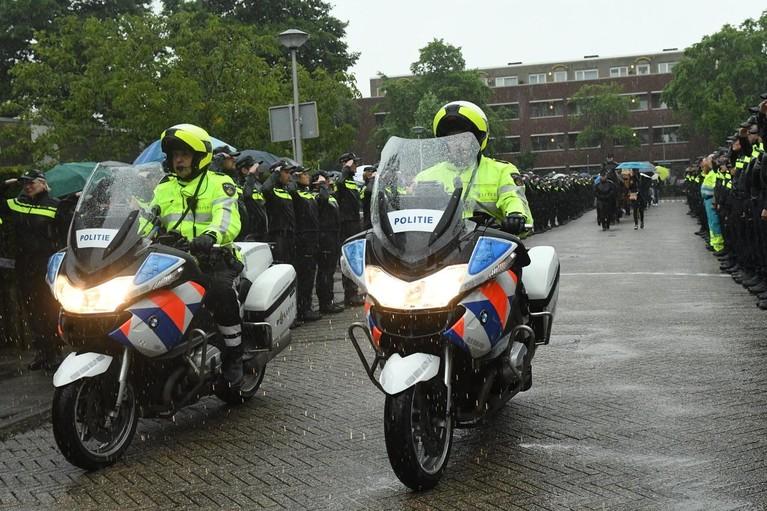Politie Leiden neemt afscheid van overleden agente
