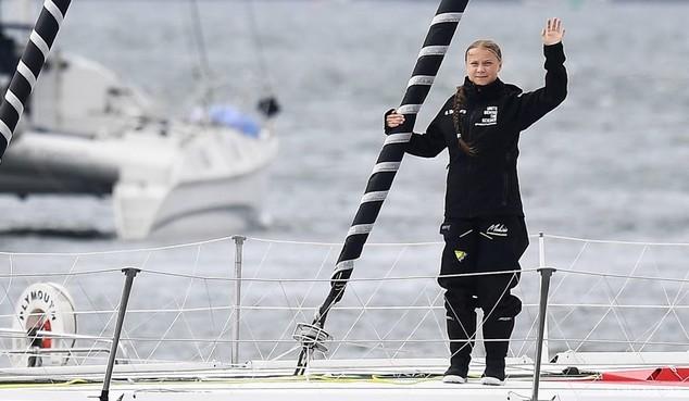 Activiste Thunberg begint aan bootreis naar VS