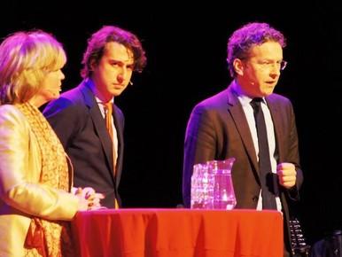Pia Dijkstra, Jesse Klaver en Jeroen Dijsselbloem.