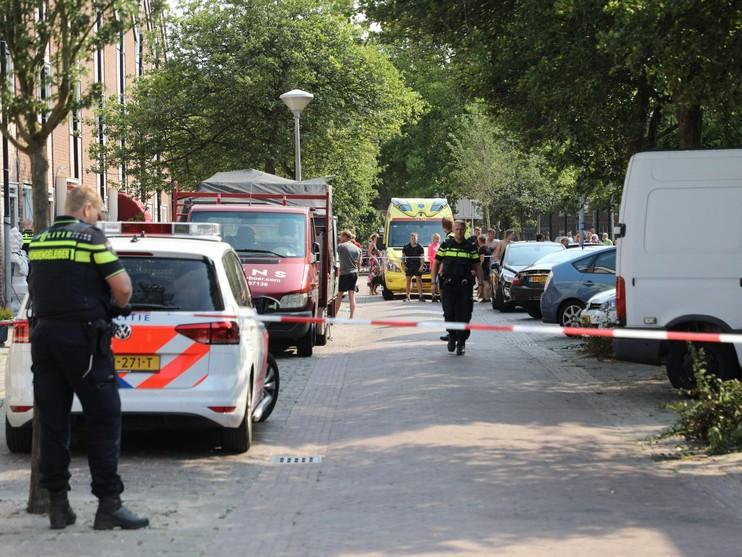 Traumahelikopter en reanimatie voor slachtoffer incident in Haarlem