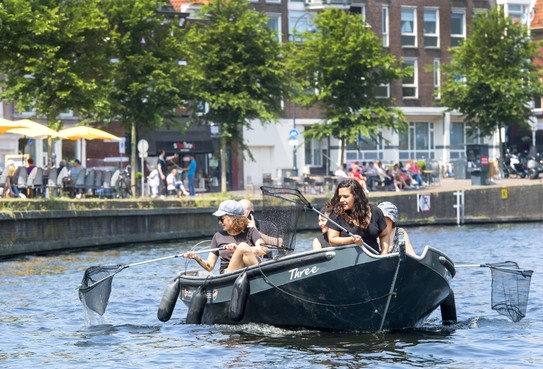 Goede vangst bij plastic vissen uit Haarlems water