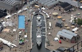 Een luchtfoto van Sail Den Helder 2017.