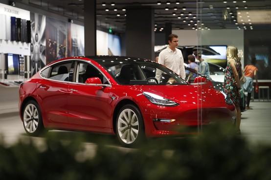 Tesla met grote zak geld