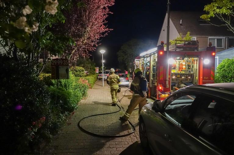 Brand verwoest auto in Hoorn