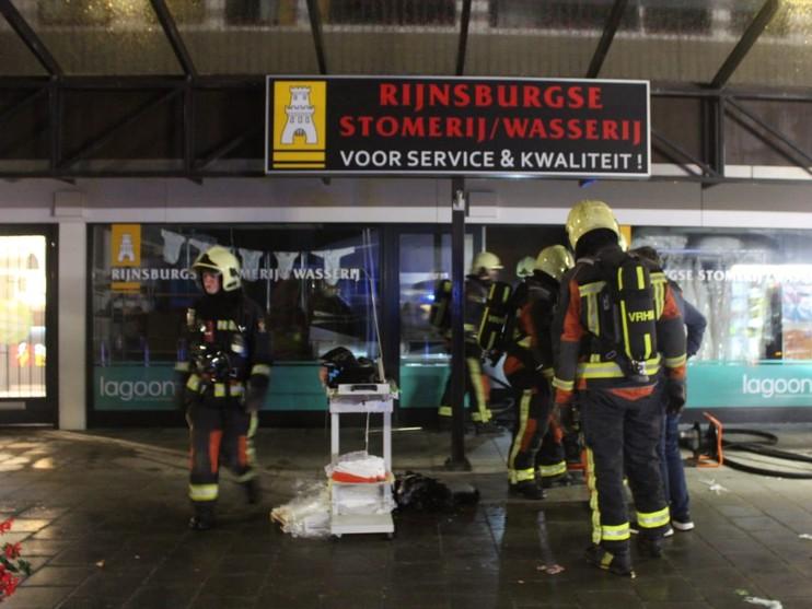 Brand in wasserij Rijnsburg