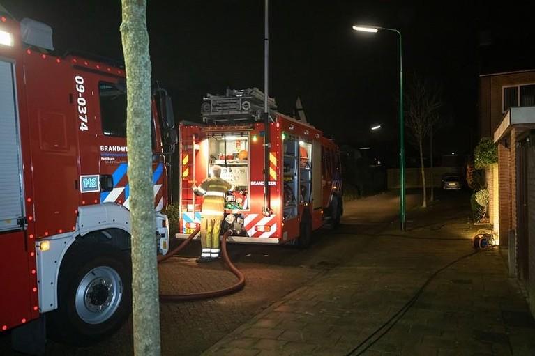 Brand bij woning in Baarn, bewoner naar ziekenhuis