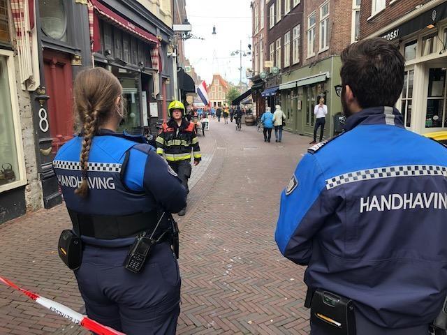 Brand in restaurant aan Lange Veerstraat Haarlem