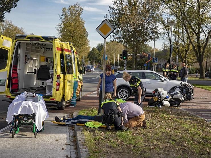Motoragent gewond bij ongeval in Beverwijk