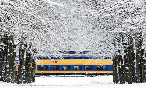 Dinsdag minder treinen vanwege sneeuwval
