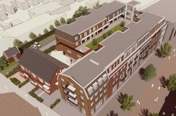 Nieuwbouwcomplex op plek van Alphense V&D met naam De Toussaint