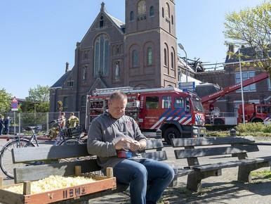 Het leven gaat door in Limmen na brand Corneliuskerk