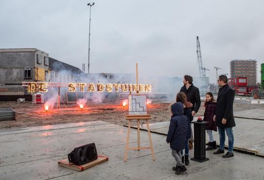 Vuurwerk bij nieuwbouw De Stadstuinen