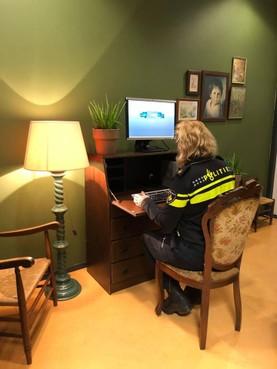 Probeersel van politie Hilversum: aangifte in relaxte setting