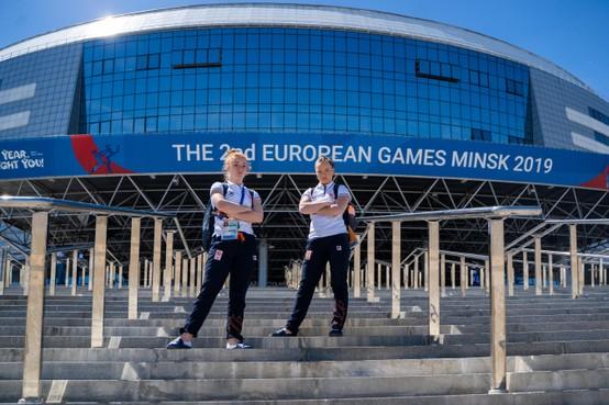 Trampolinespringster Niamh Slattery heeft bij European Games in Minsk vooral genoten