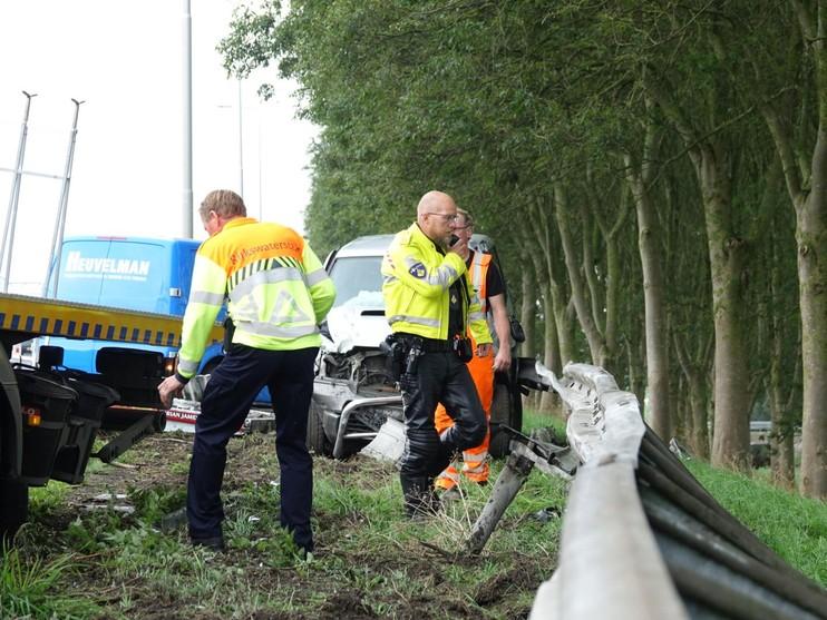 Twee gewonden bij flinke botsing op A7 bij Noordbeemster