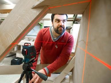 Nick van Straalen gebruikt moderne technieken voor ambachtelijk. werk