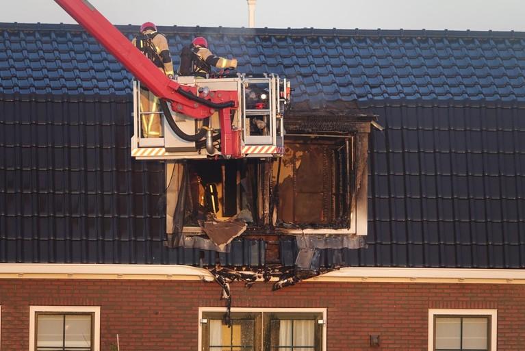 Brand bij vakantiehuis in Europarcs Zeedijk in Uitdam