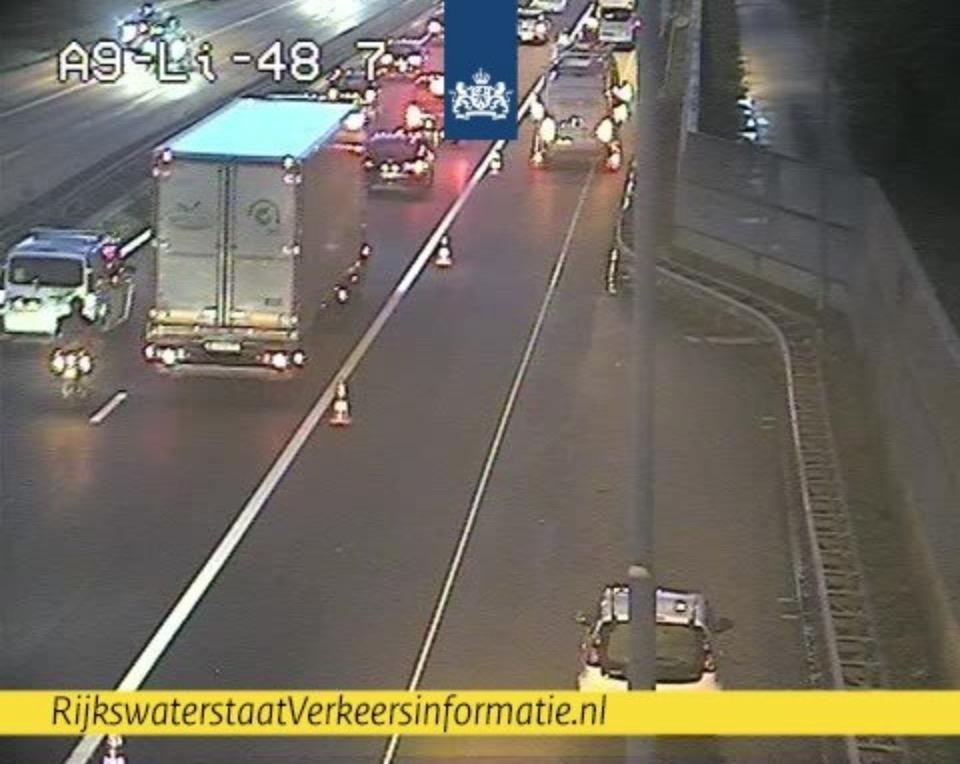 20 kilometer file op de A9 richting Amstelveen door drie ongelukken - IJmuider Courant