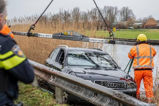 Vier Polen omgekomen in auto in water Obdam