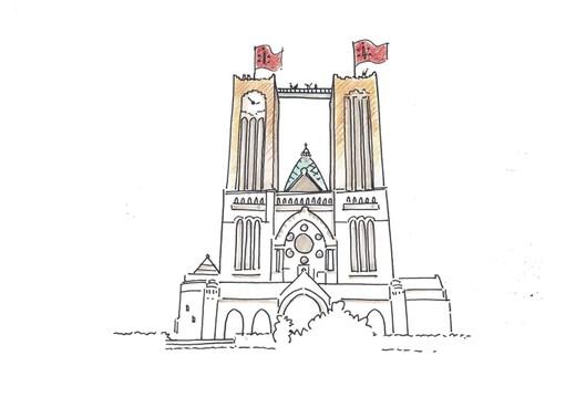 Haarlemse Kathedrale Basiliek Sint Bavo krijgt tijdelijke loopbrug tussen kerktorens op 60 meter hoogte [video]