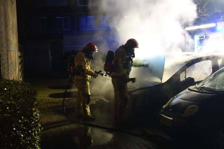 Auto's verwoest door brand in Purmerend