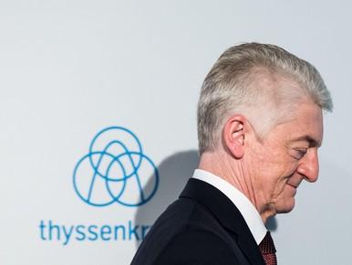 Topman ThyssenKrupp dient ontslag in