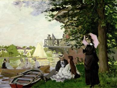 Doe mee en schilder uw kijk op 'Tuinhuis aan de Zaan' van Monet