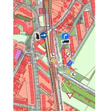 Verkeersbesluit Velsen: verkeer nieuwe ontsluitingsweg langs spoor in Santpoort-Zuid moet voorrang verlenen